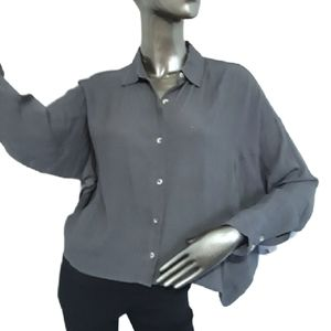 O'Neill Braxton Button Up Relaxed fit Top Sz S-XS